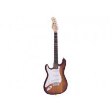 DIMAVERY ST-203 E-Gitarre LH, sunburst