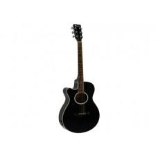 DIMAVERY AW-400 Westerngitarre LH, schwarz