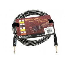 DIMAVERY Instrumenten-Kabel, 3m, sw/sil
