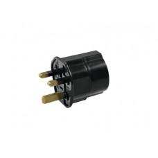 OMNITRONIC Adapter EU/UK Stecker 13A sw
